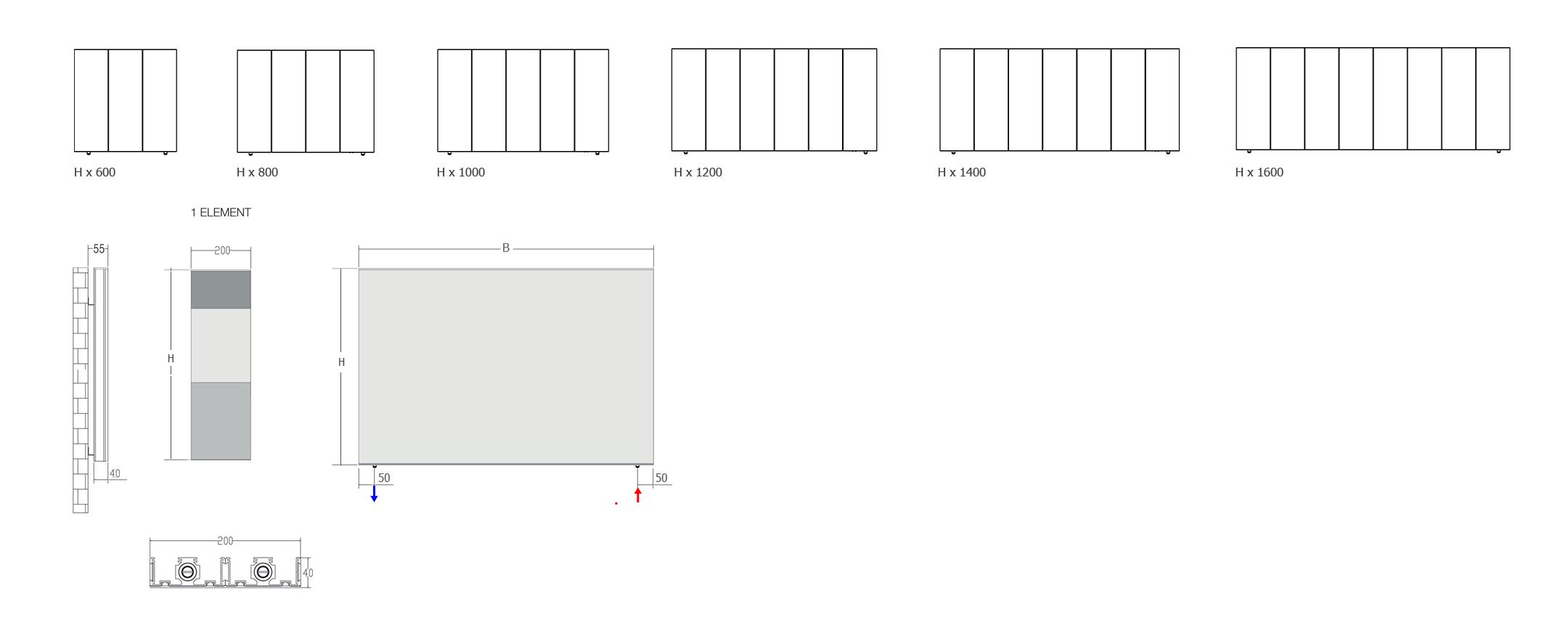 heizk rper horizontal kleopatra heizungsk rper senia. Black Bedroom Furniture Sets. Home Design Ideas